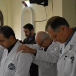 Praying over the first two PAACS Residents